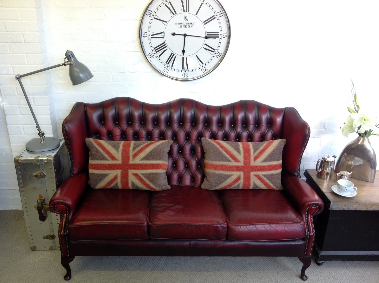 Vintage Umber Brown 3 Seater Chesterfield Sofa – Chesterfields at