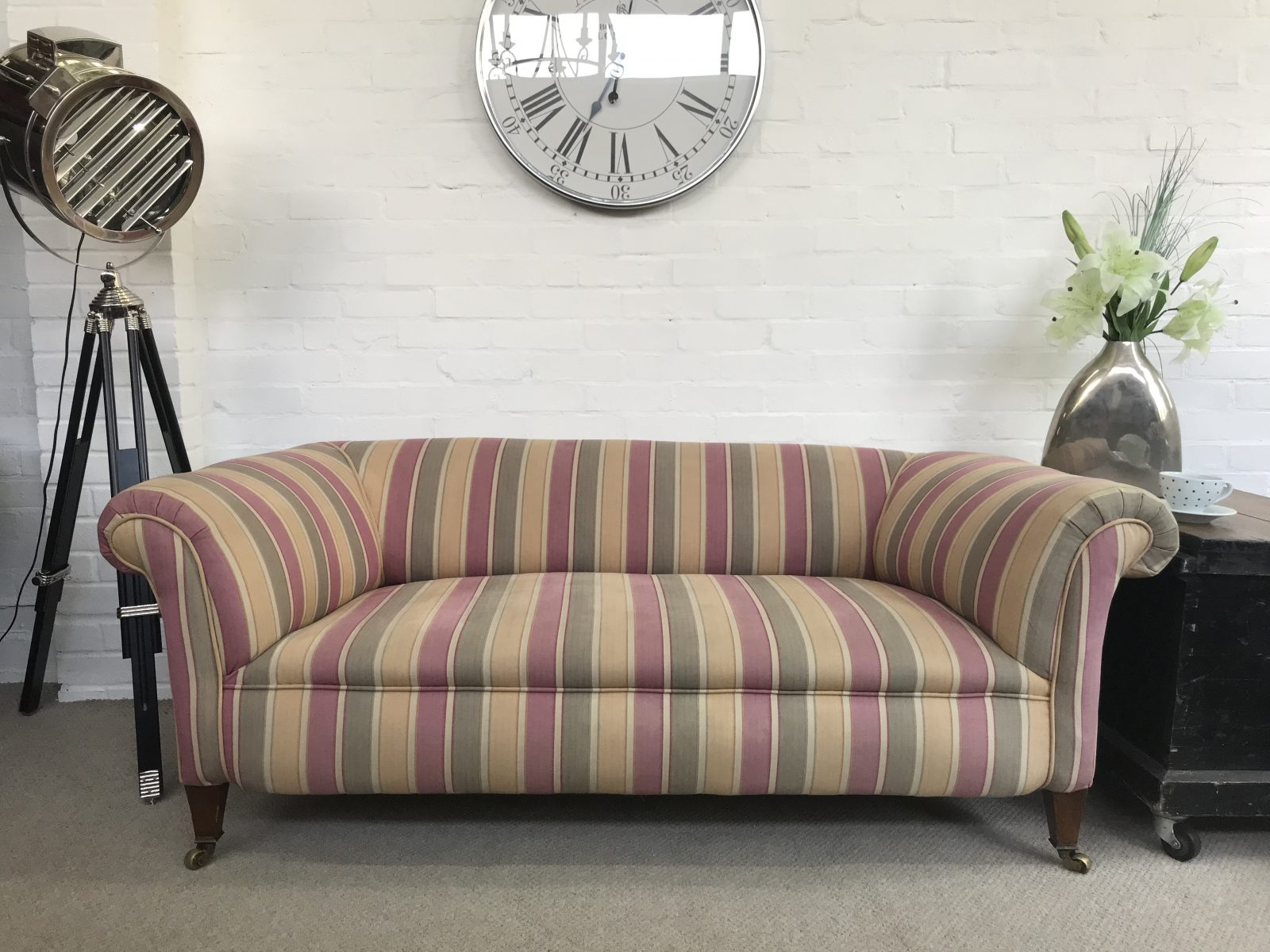 Stunning Antique Edwardian Chesterfield Sofa Chesterfields At The