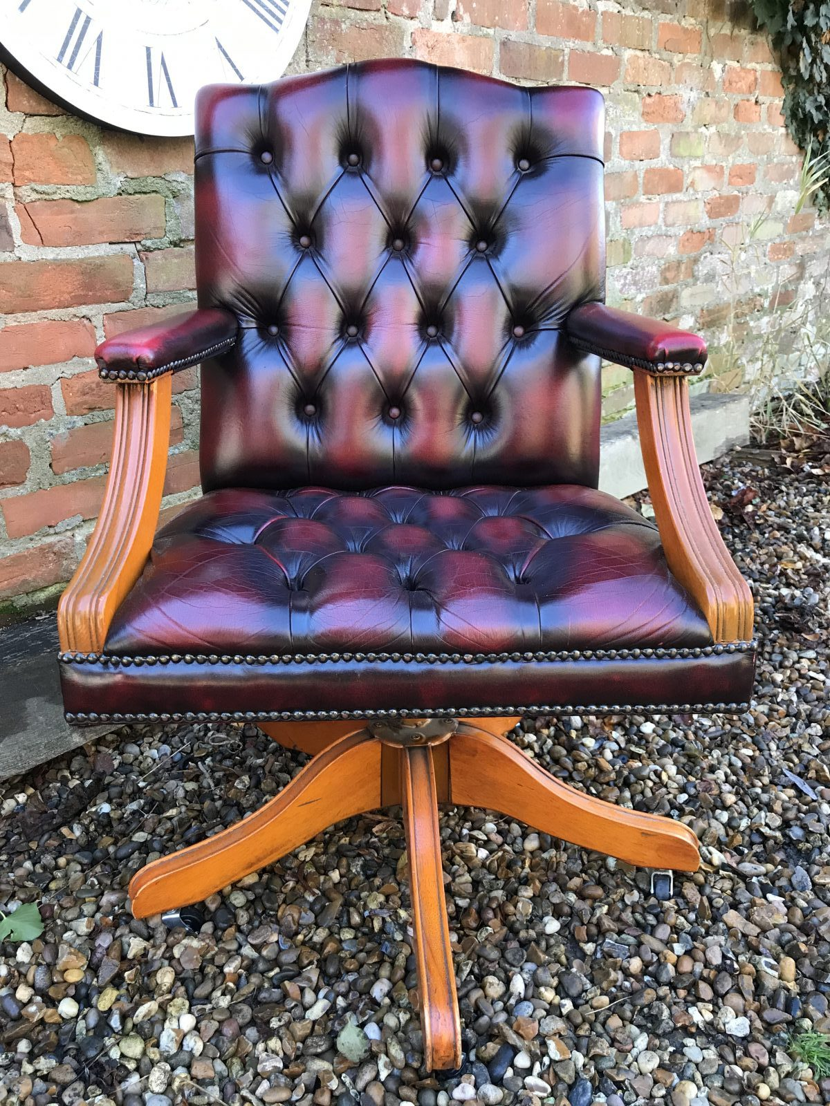Oxblood Red Office Chair.