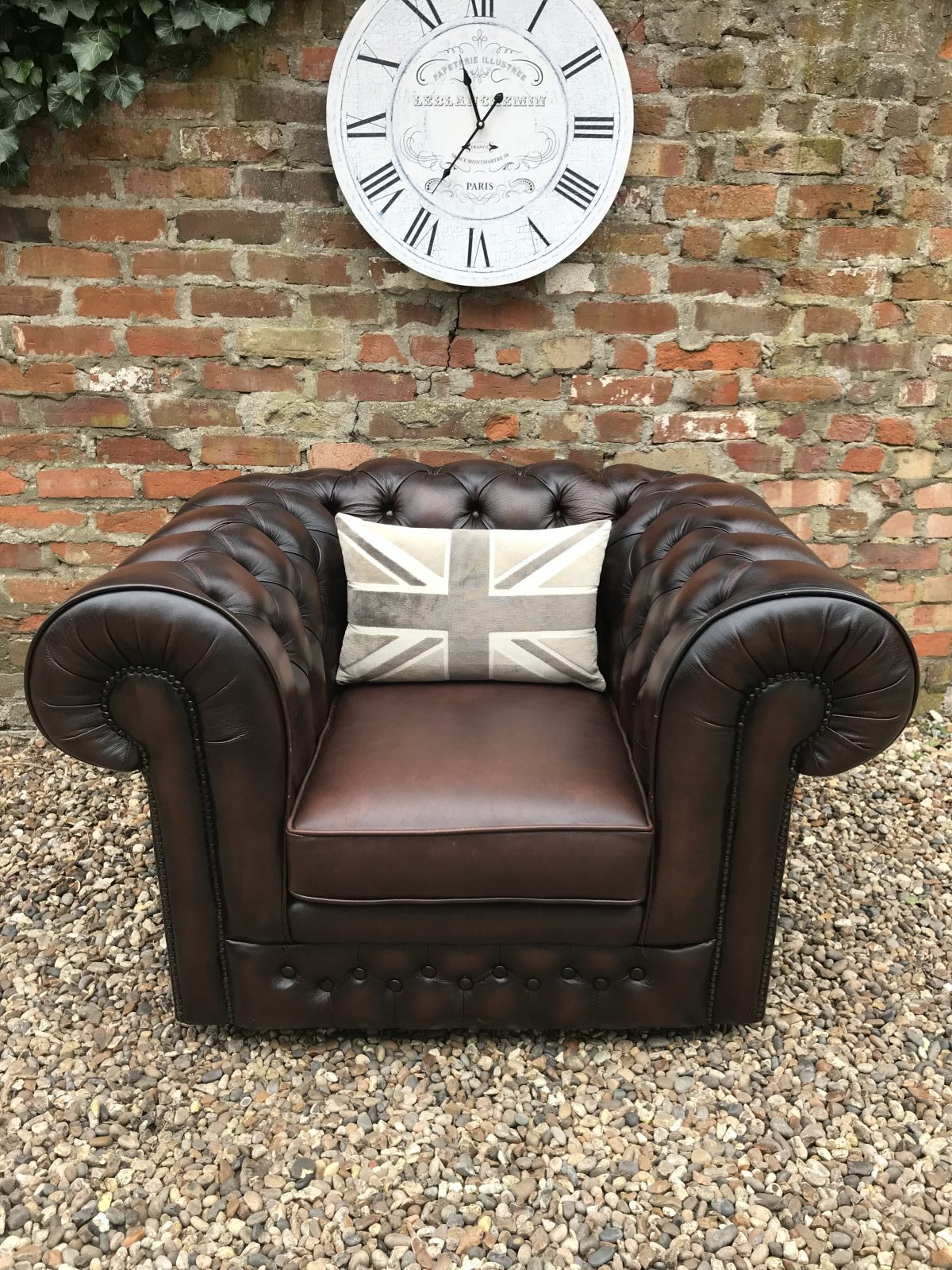 Rich Dark Brown Thomas Lloyd Club Armchair. ( Also Available In Oxblood )