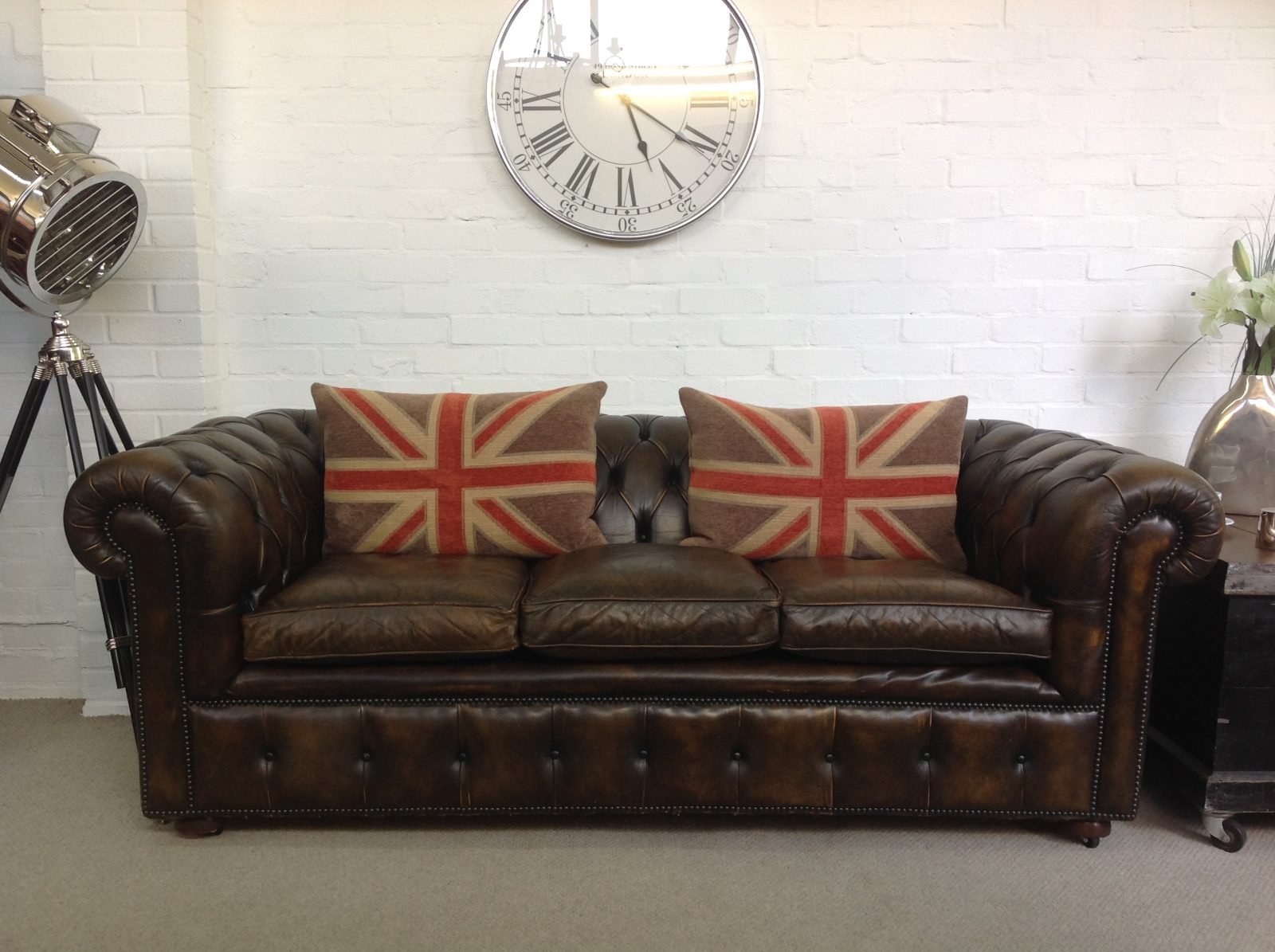 Outstanding Vintage Chesterfield Sofa.