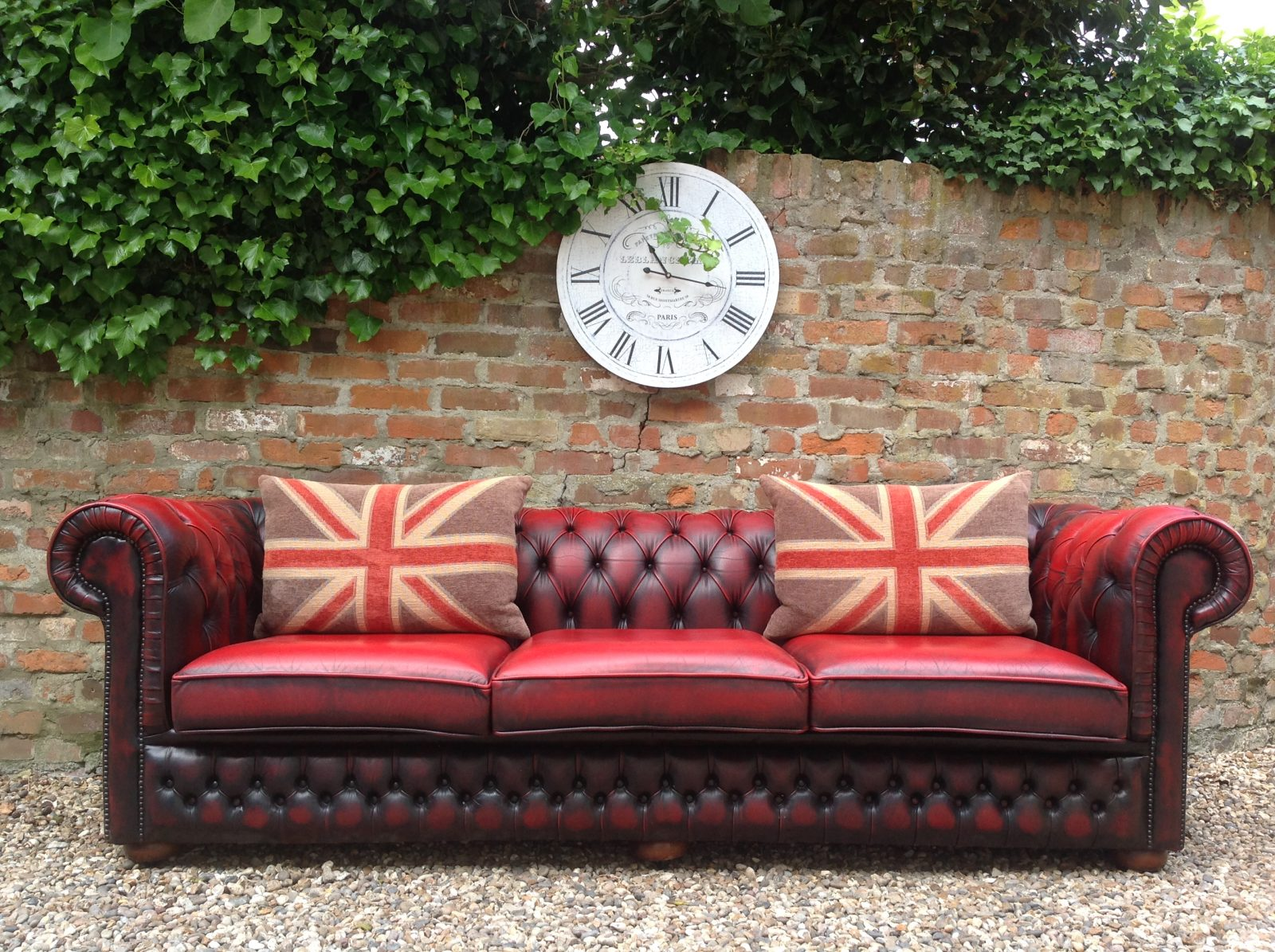 Oxblood 4 Seater Chesterfield Sofa…..