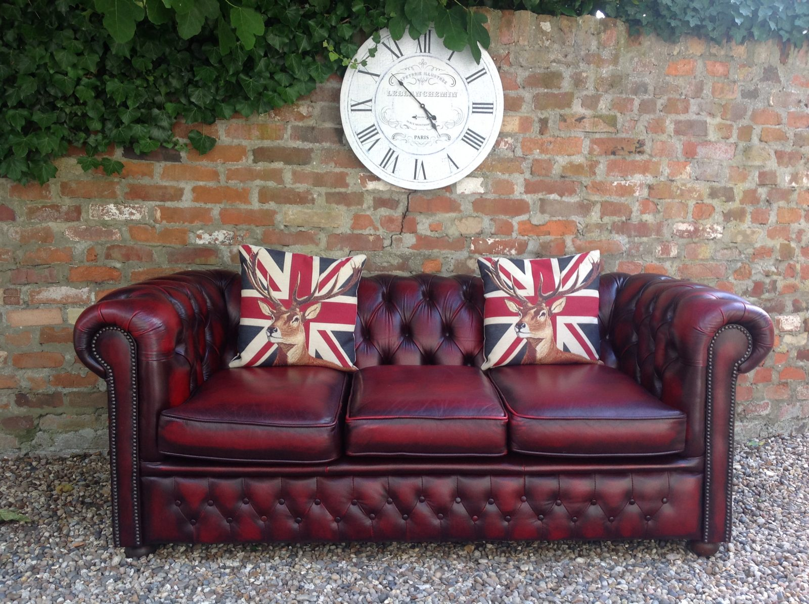 Classic Oxblood Chesterfield Sofa.