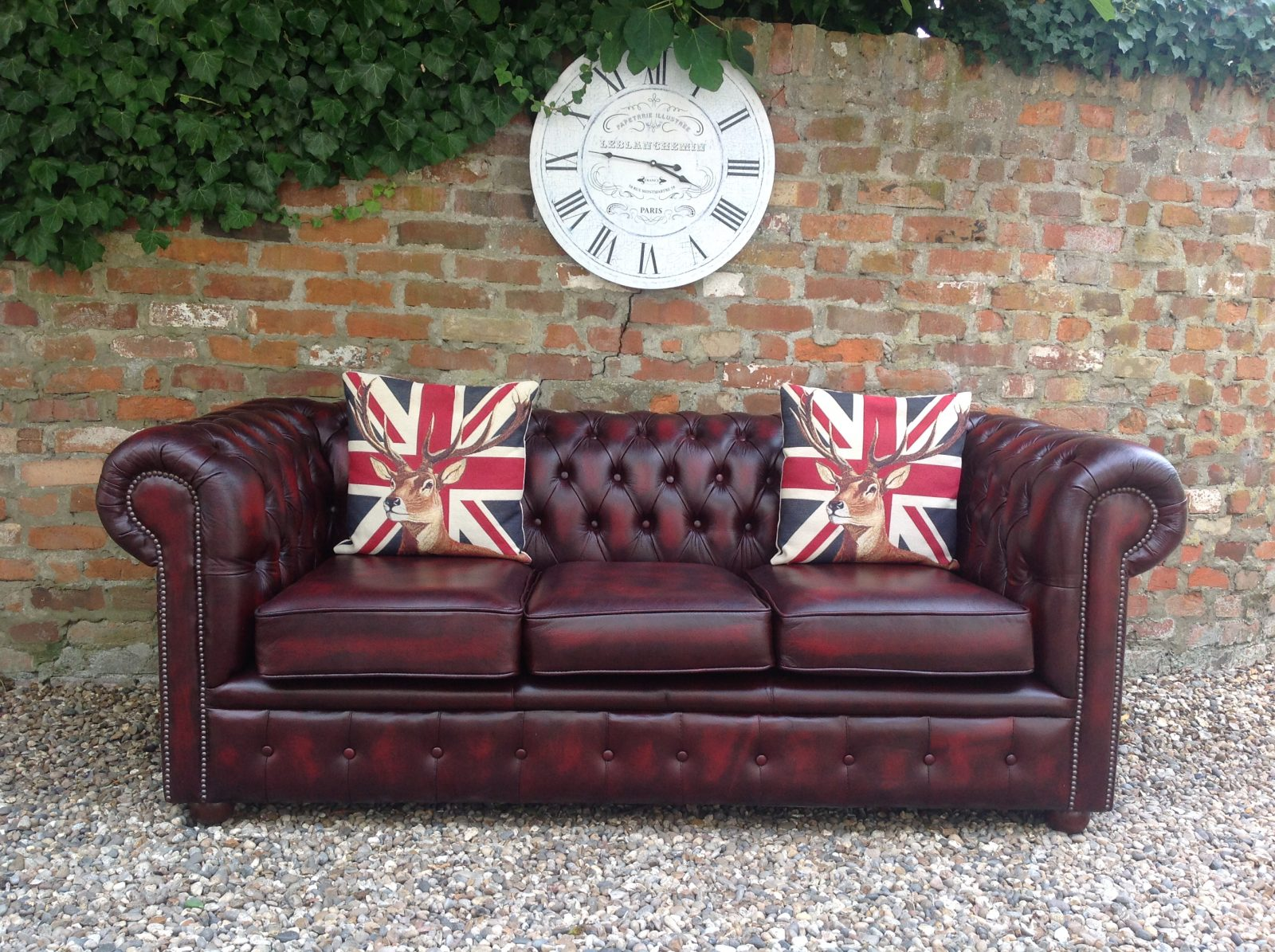 Oxblood Chesterfield Sofa.