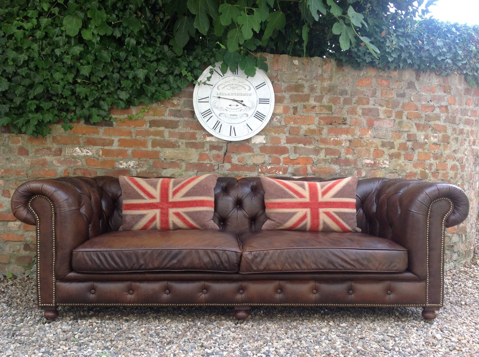 "Stunning 3/4 Seater Chesterfield Sofa By ""Halo""."