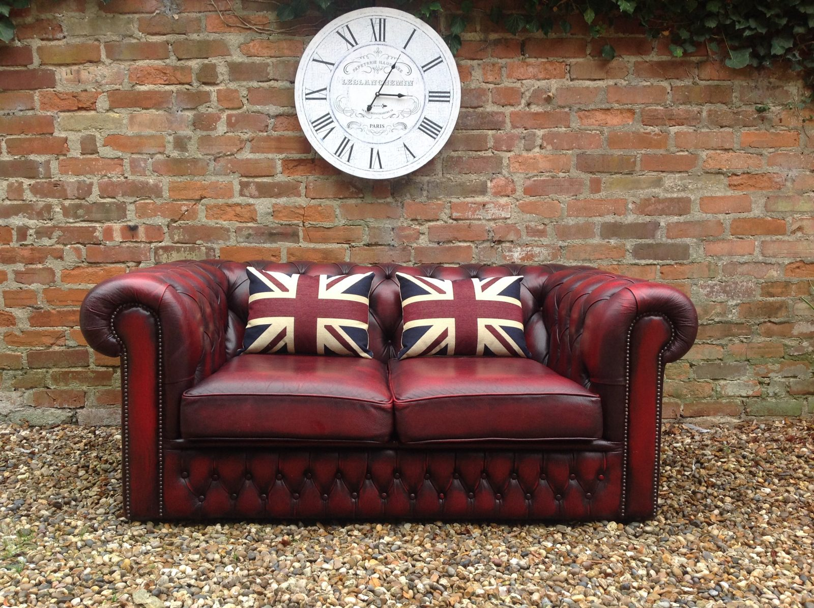 Oxblood Chesterfield Sofa By Saxon.
