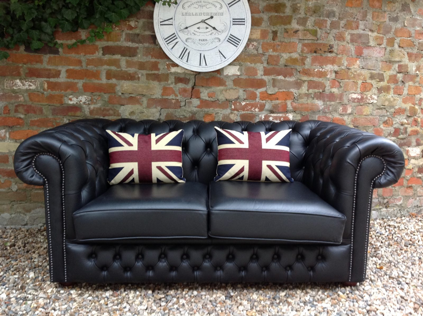 Midnight Black Chesterfield Sofa. ( Matching 3 Seater Available.)