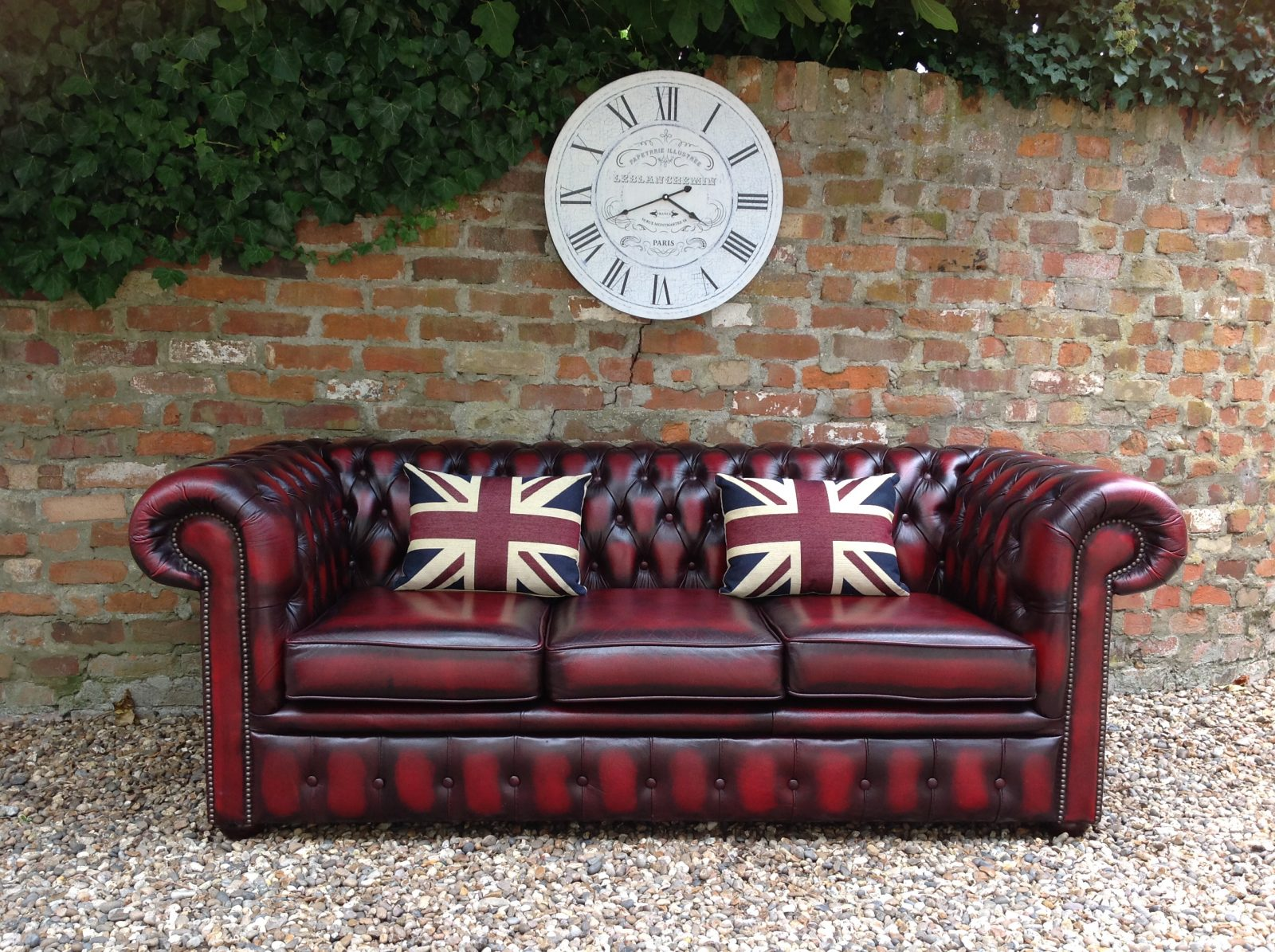 Beautiful Oxblood Chesterfield Sofa.SOLD.(Matching 2 Seater Available)