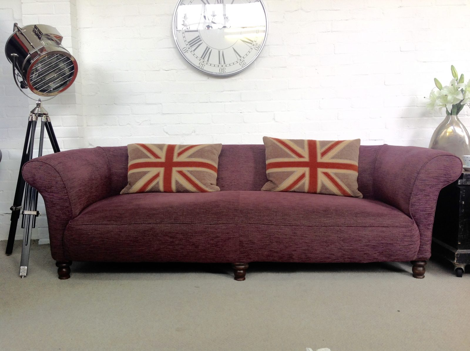 Early 20th Century Antique Chesterfield Sofa.