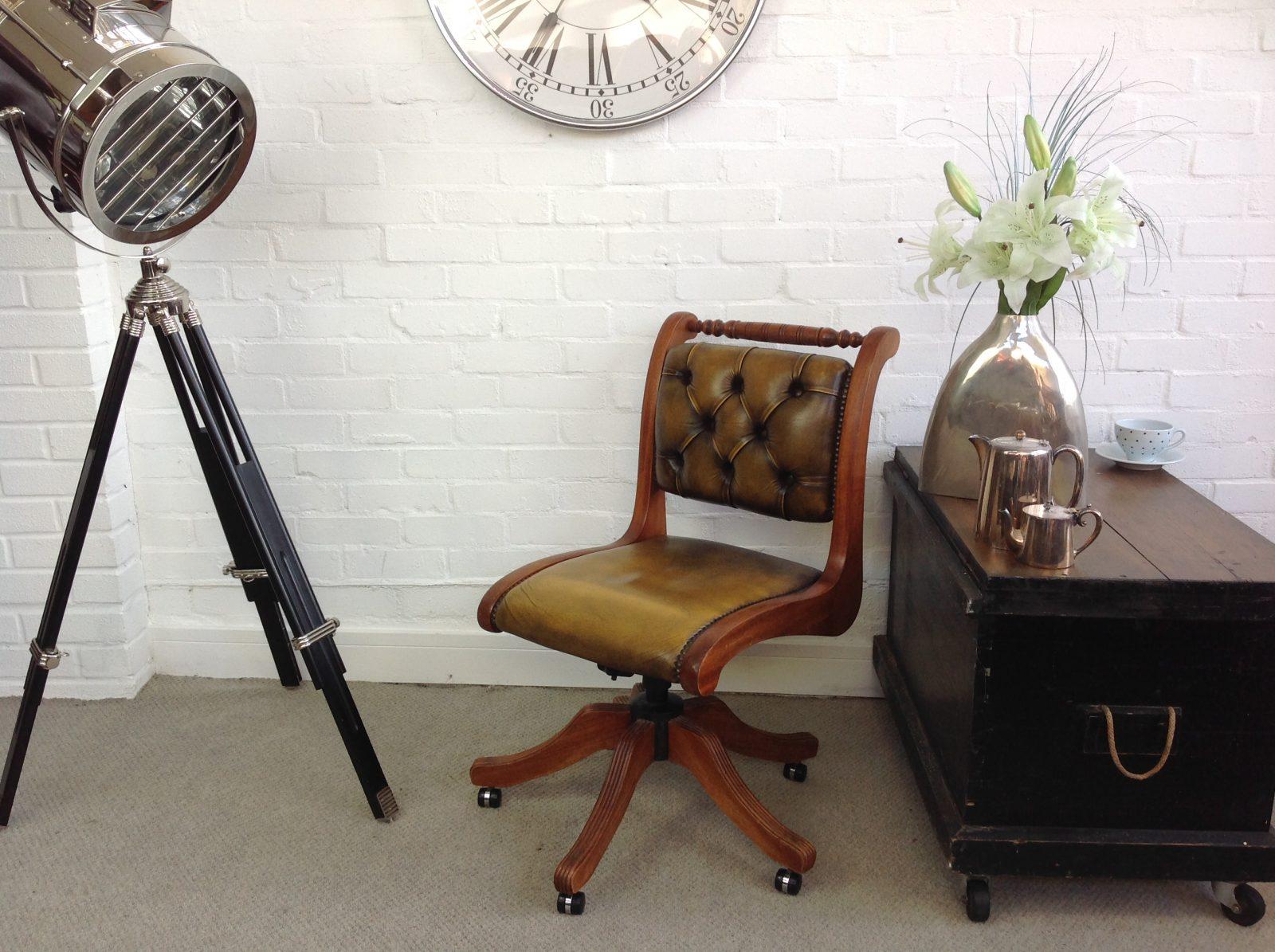 Golden Tan Office Chair.