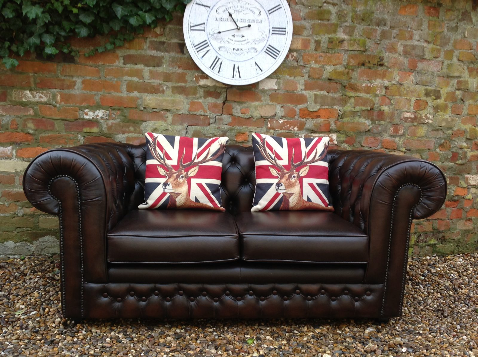 Thomas Lloyd Chesterfield Sofa. (Matching Club Chair Available)