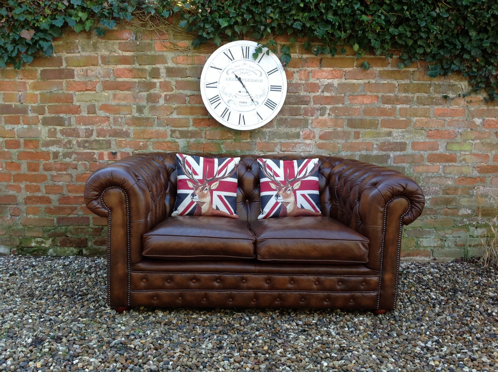 Antique Gold Chesterfield Sofa…….( Matching 3 Seater Available)