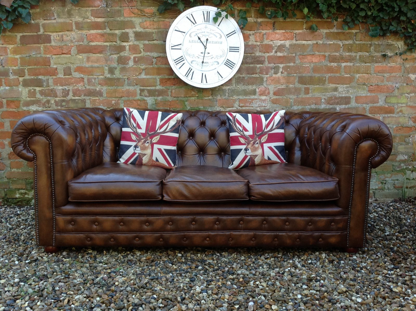 Antique Gold Chesterfield Sofa…….( Matching 2 Seater Available )