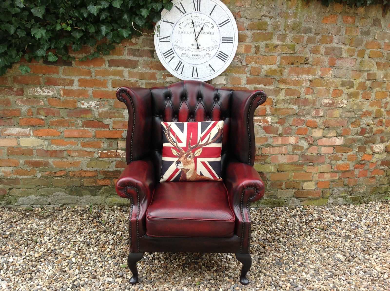 Queen Anne Wingback Chair.