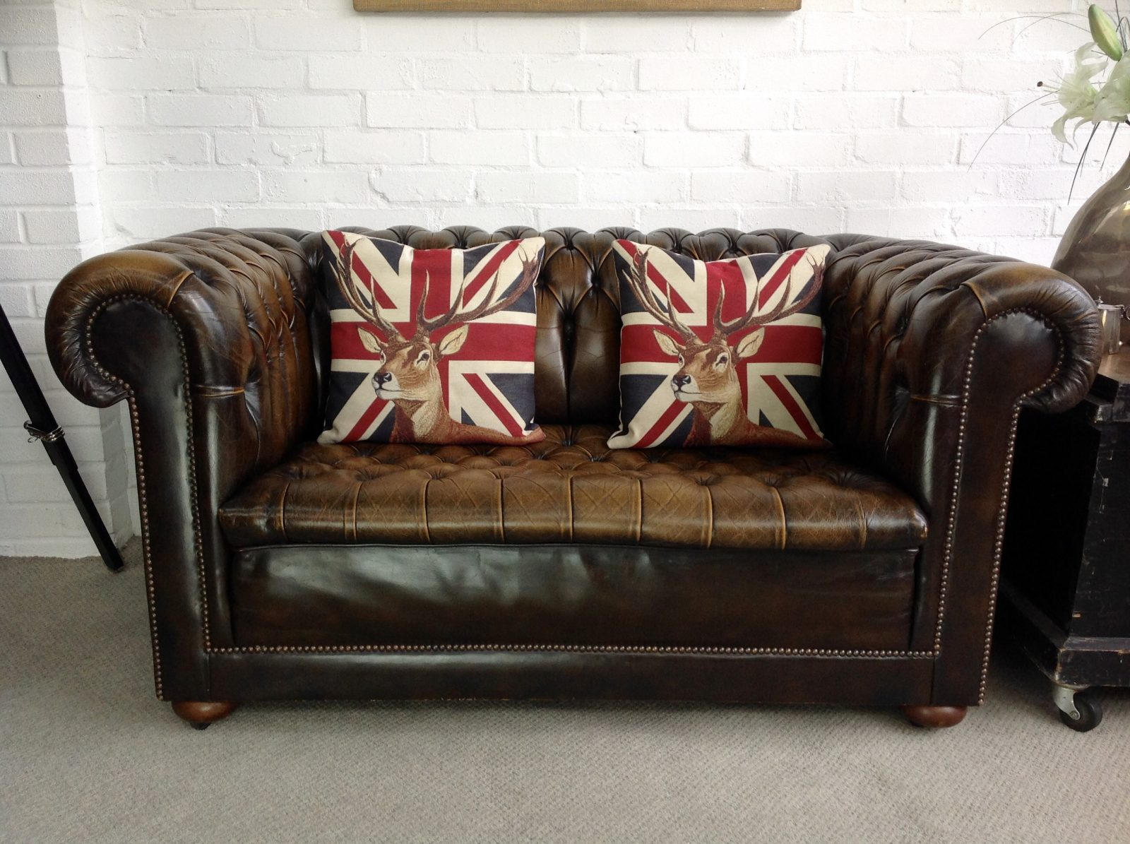 Stunning Vintage Chesterfield Sofa.