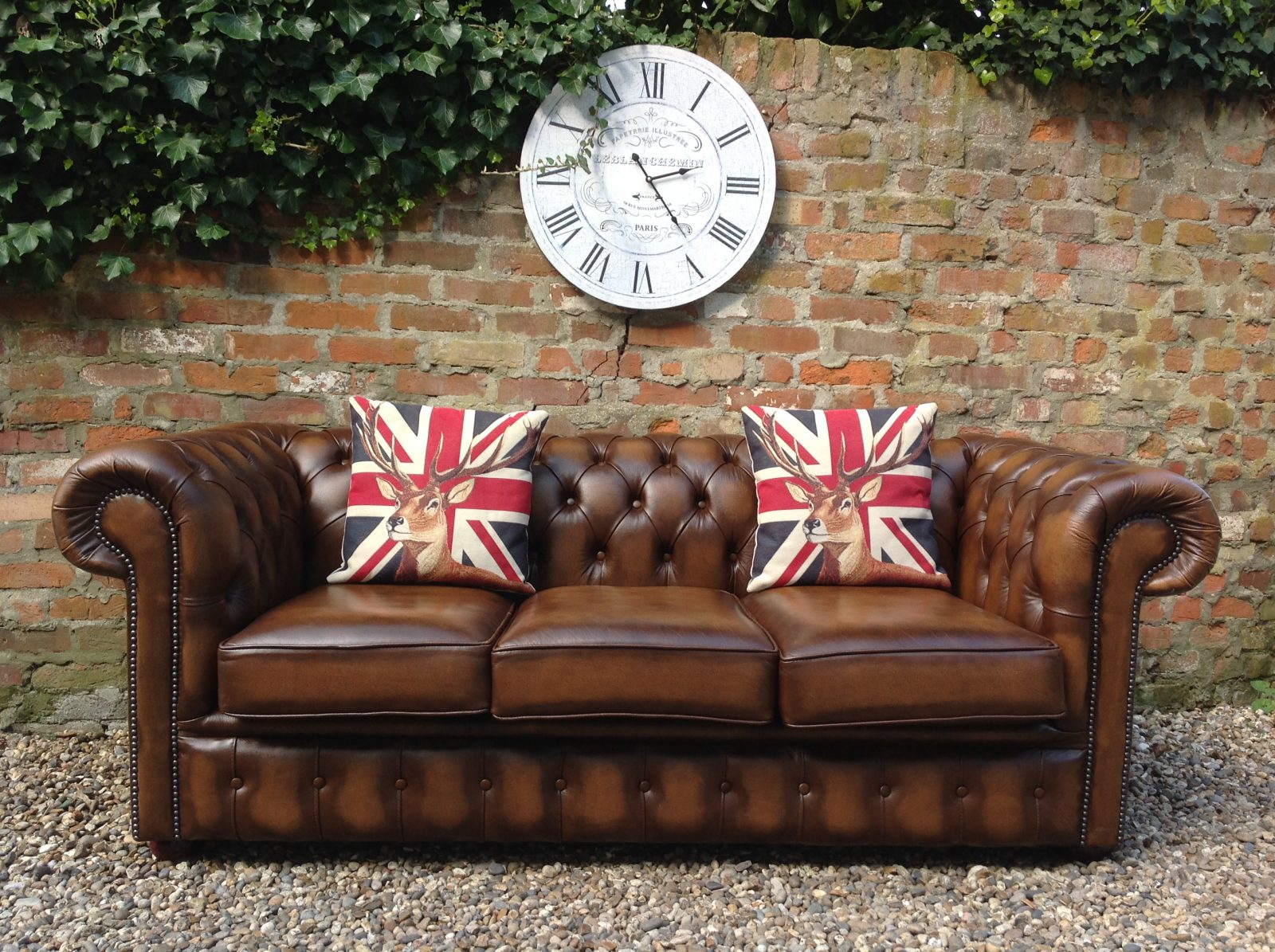 Brown Chesterfield Sofa.(Matching 3 Seater Available)