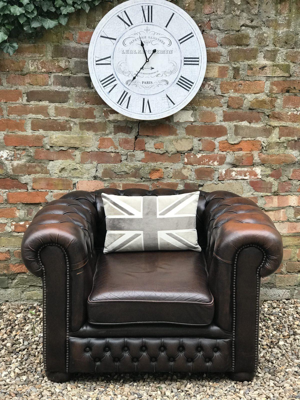 Vintage Brown Club Armchair.