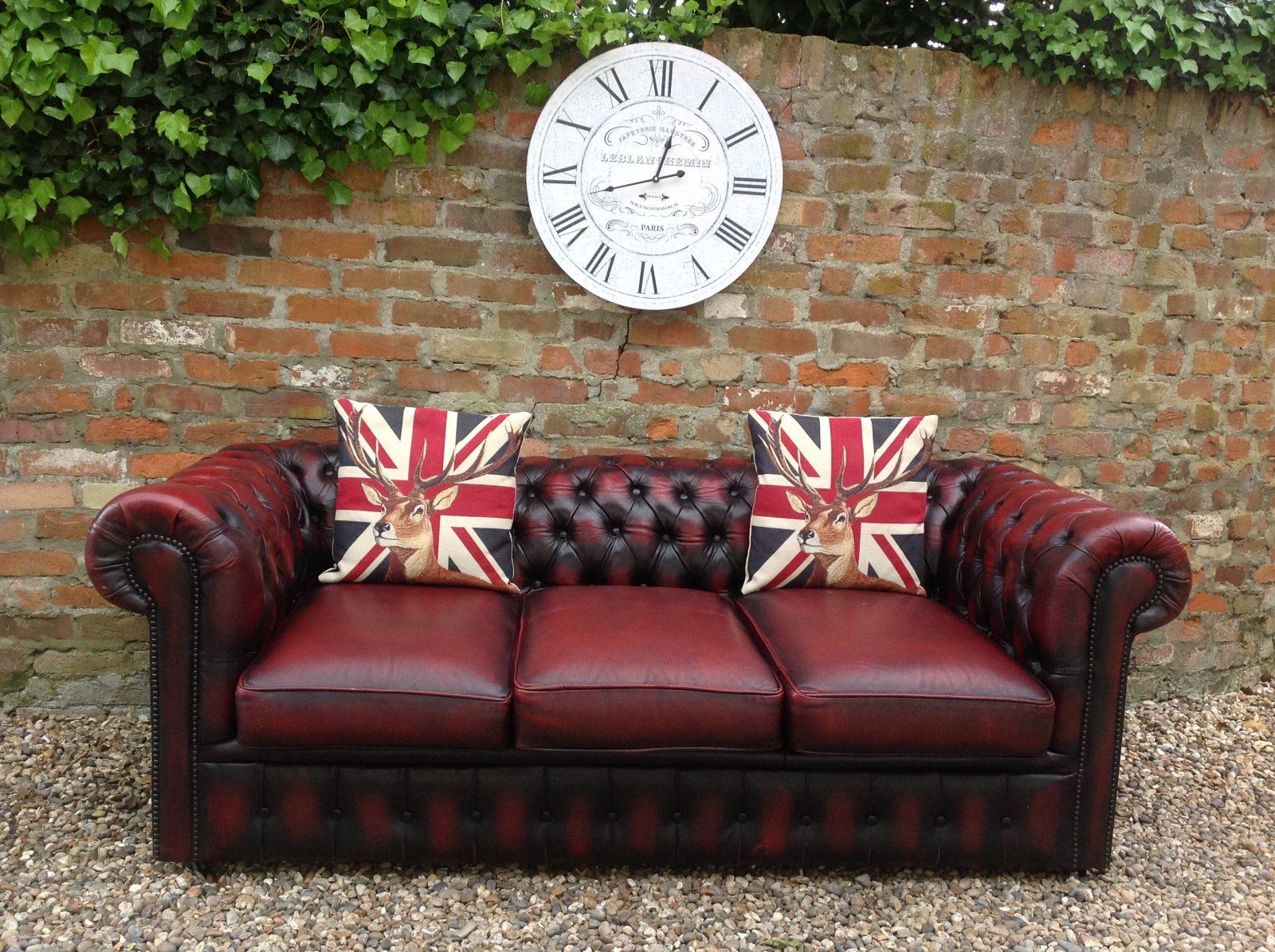 Oxblood Chesterfield Sofa.