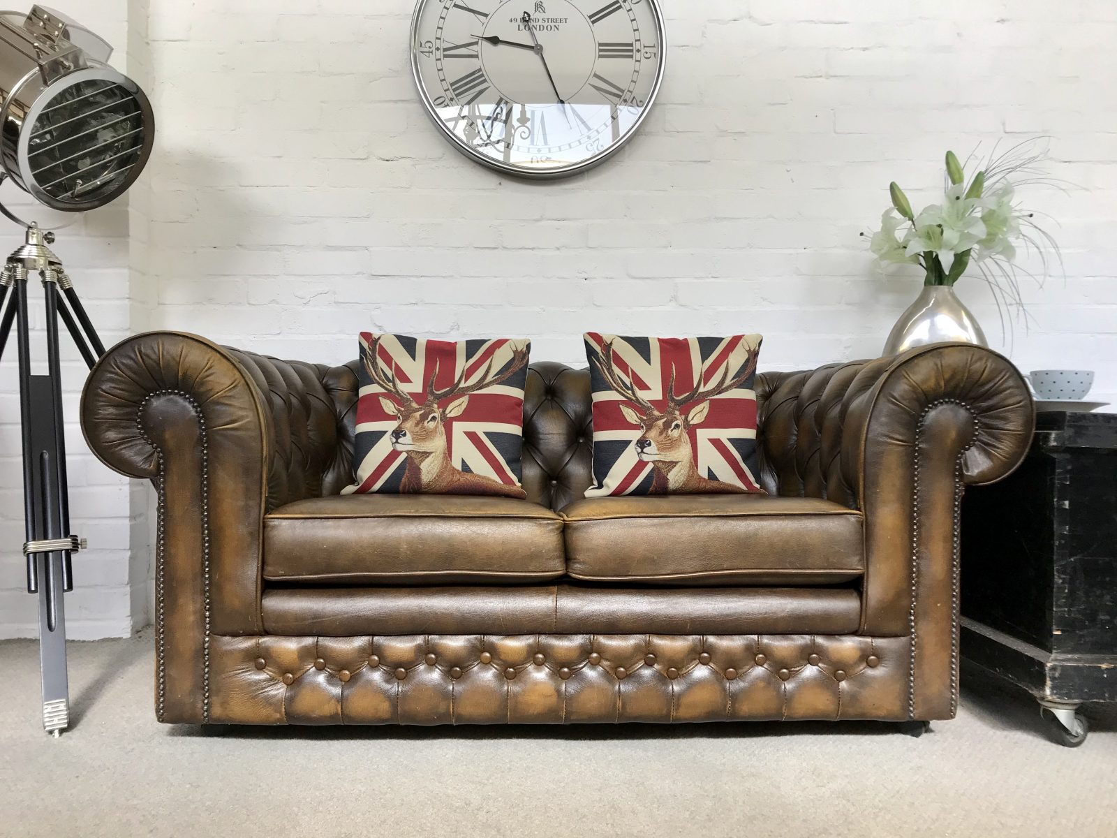 Thomas Lloyd Chesterfield Sofa. ( Matching Club Chair Available )