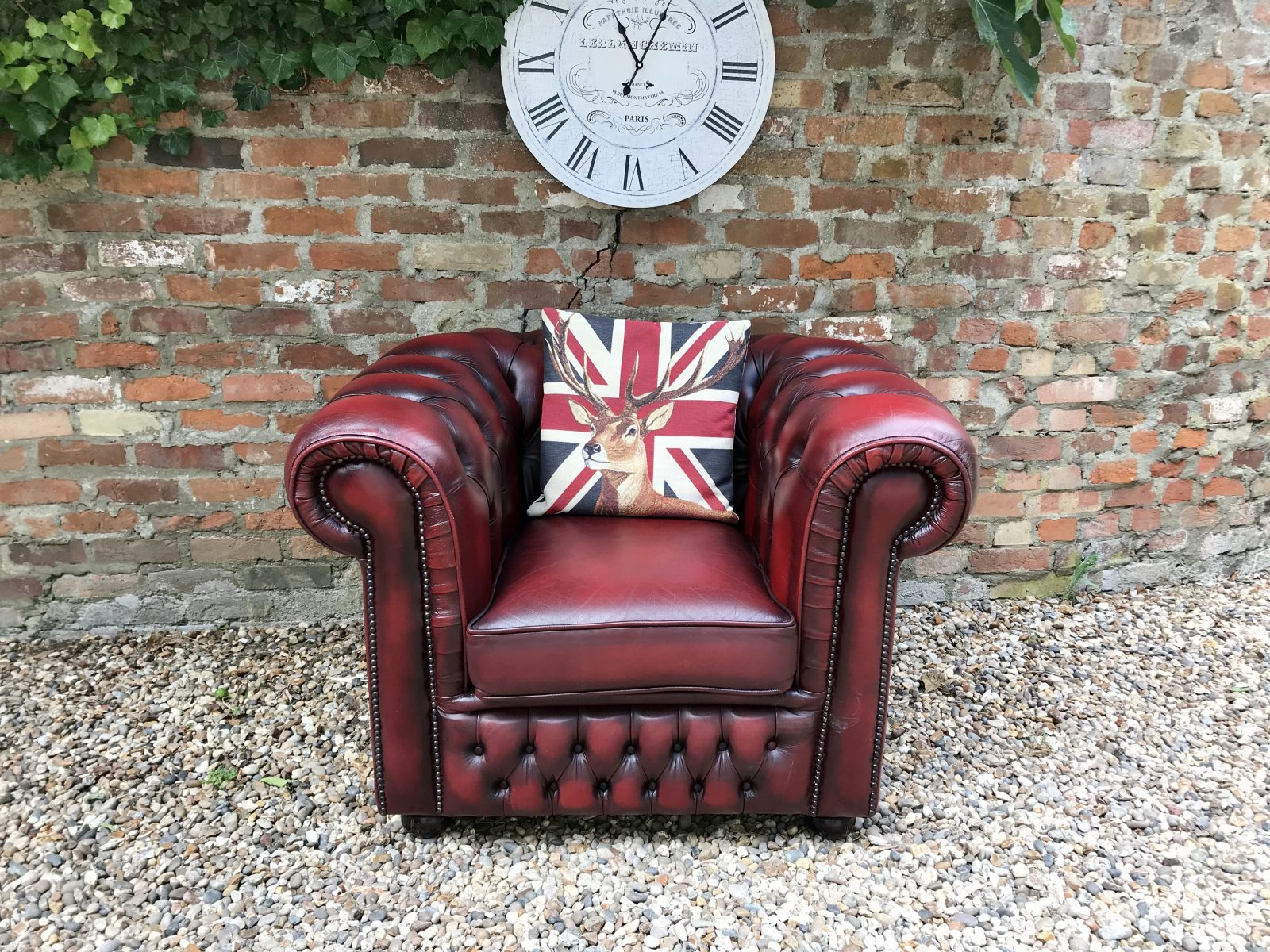 Oxblood Club Armchair. ( Matching 2 Seater Available )