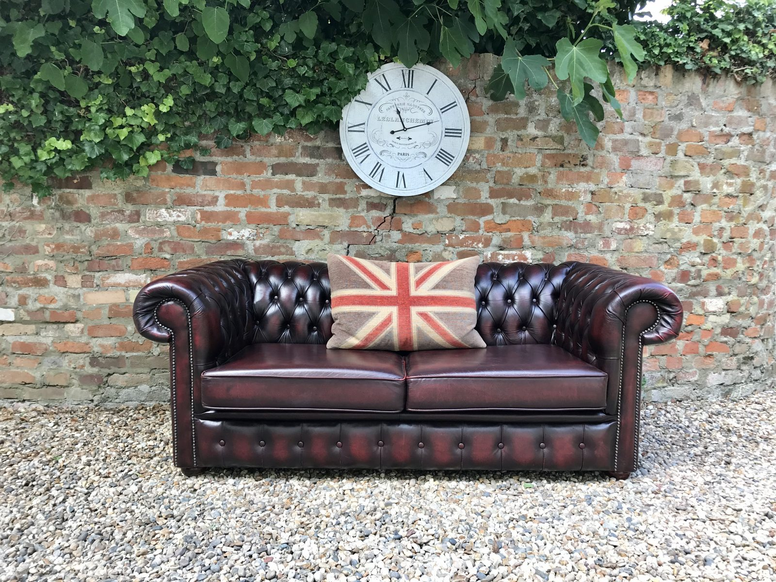 Oxblood  3 Seater Chesterfield Sofa.