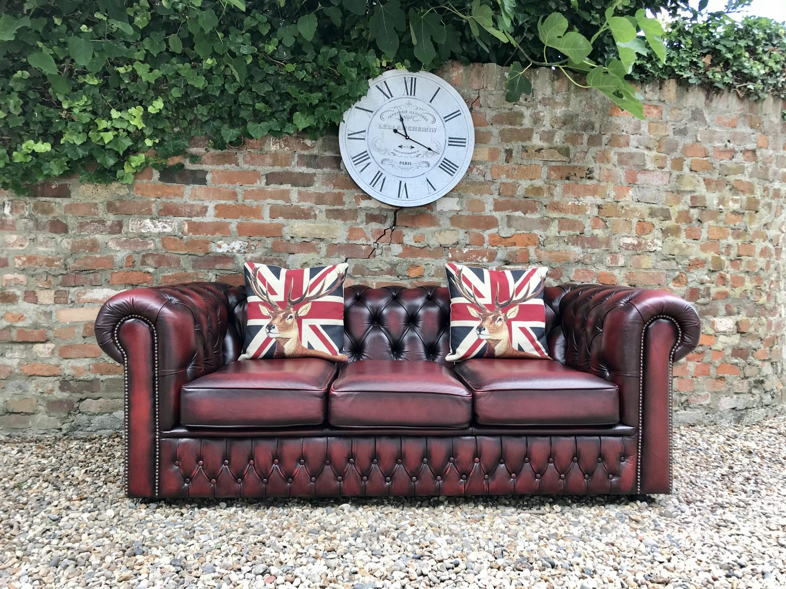 Saxon Oxblood Chesterfield Sofa (Matching Club Chairs Available)