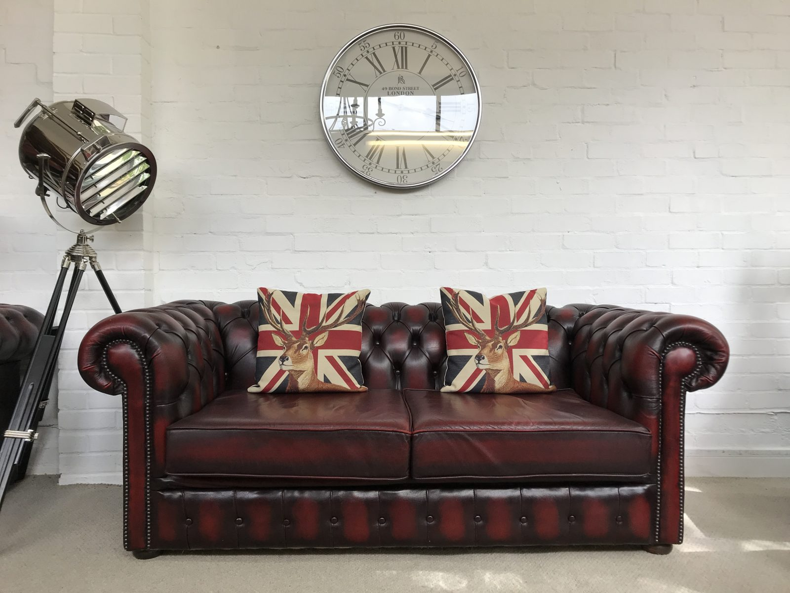 2/3 Seater Chesterfield Sofa.