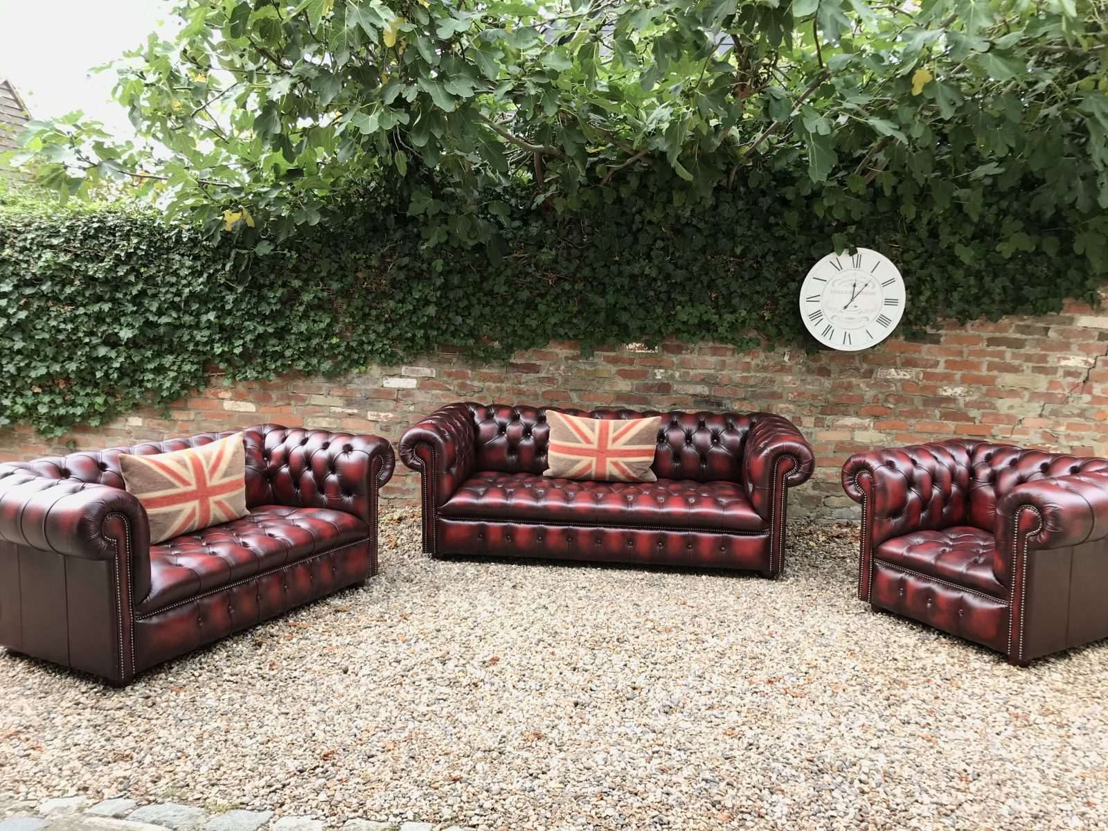 Windsor Oxblood Suite By Distinctive Chesterfields.