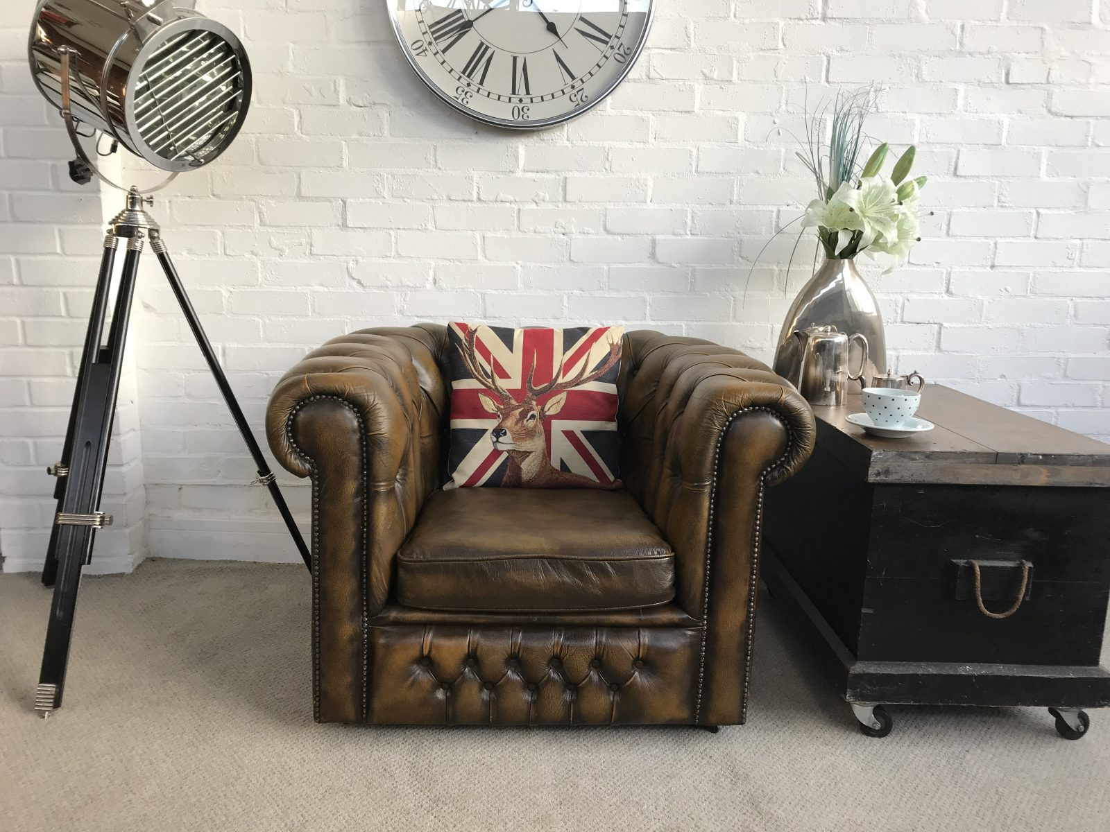 Golden Brown Club Armchair By Springvale