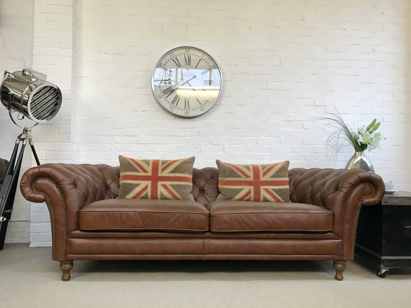 Superb 3/4 Seater Chesterfield Sofa……..SOLD.