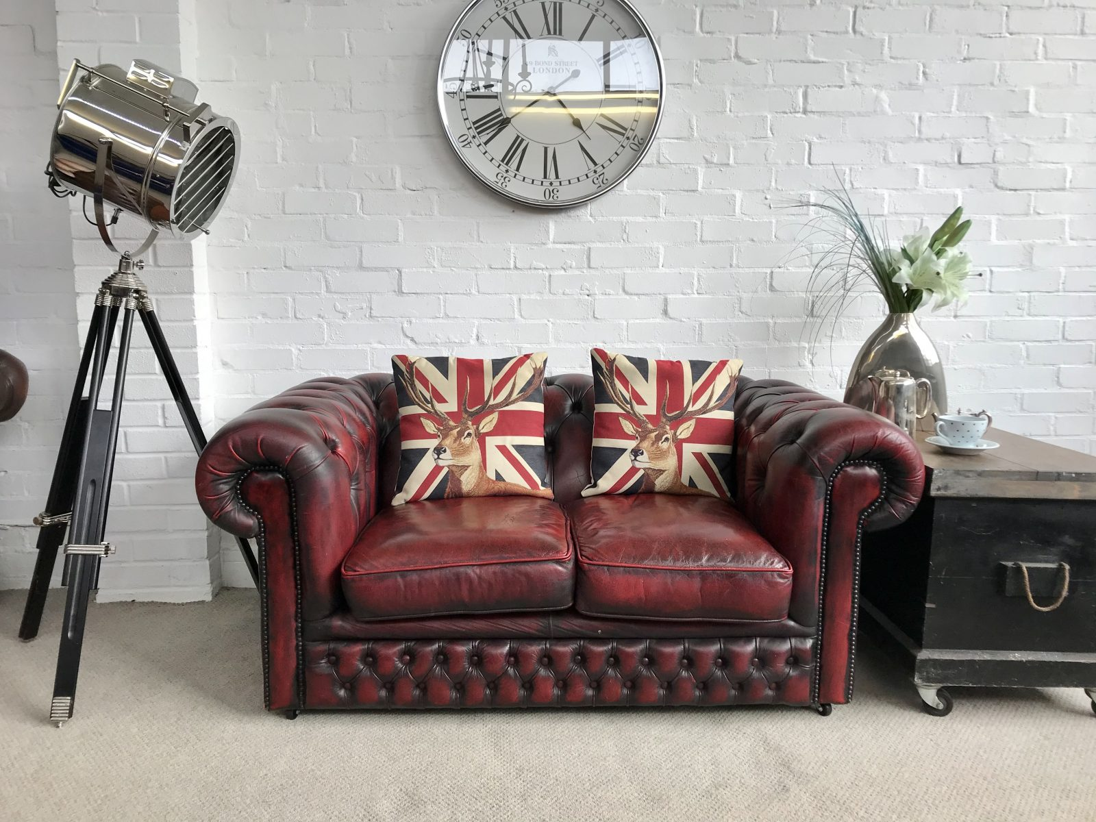 Vintage Oxblood Red Chesterfield Sofa………SOLD.