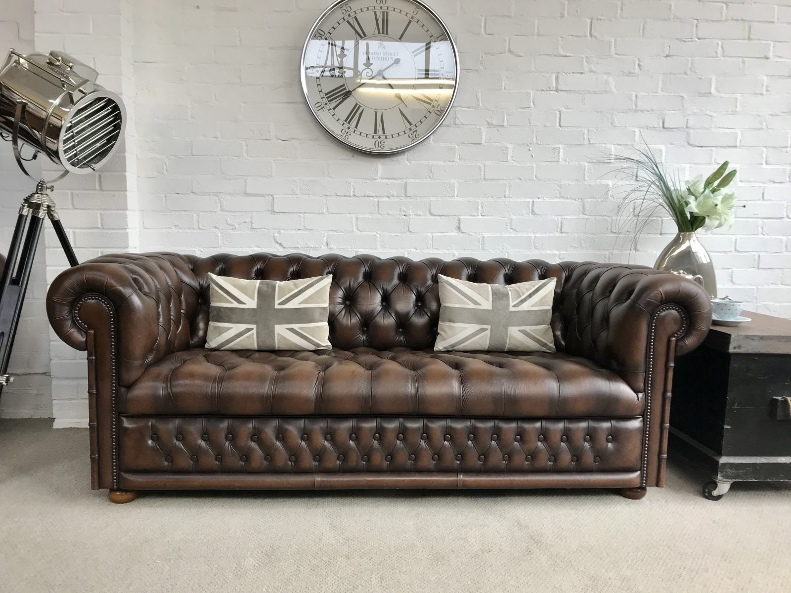 Stunning Fleming And Howland 3 Seater Chesterfield Sofa…..SOLD.