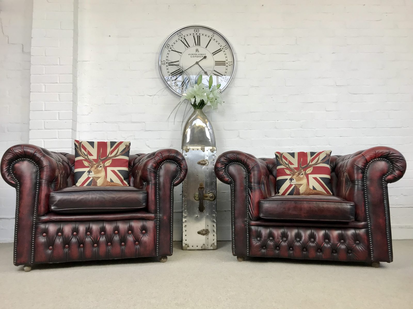 Oxblood Vintage Club Armchair.
