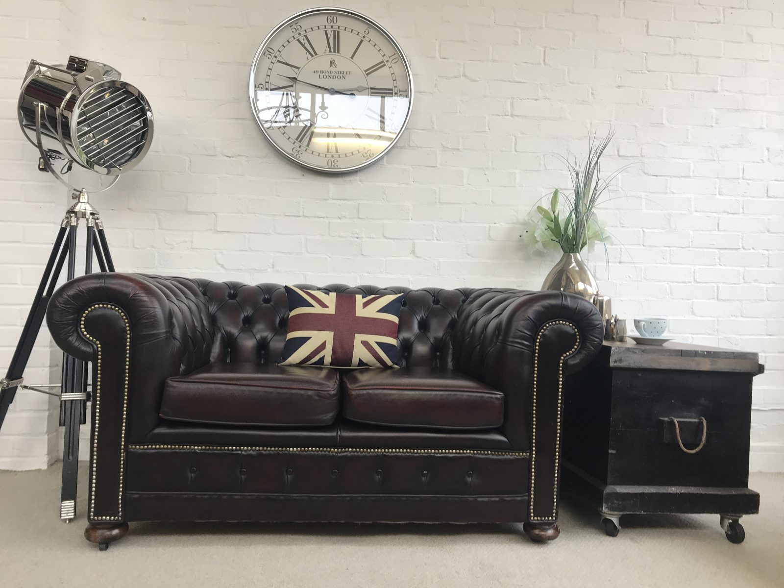Stunning Vintage Oxblood Chesterfield Sofa.