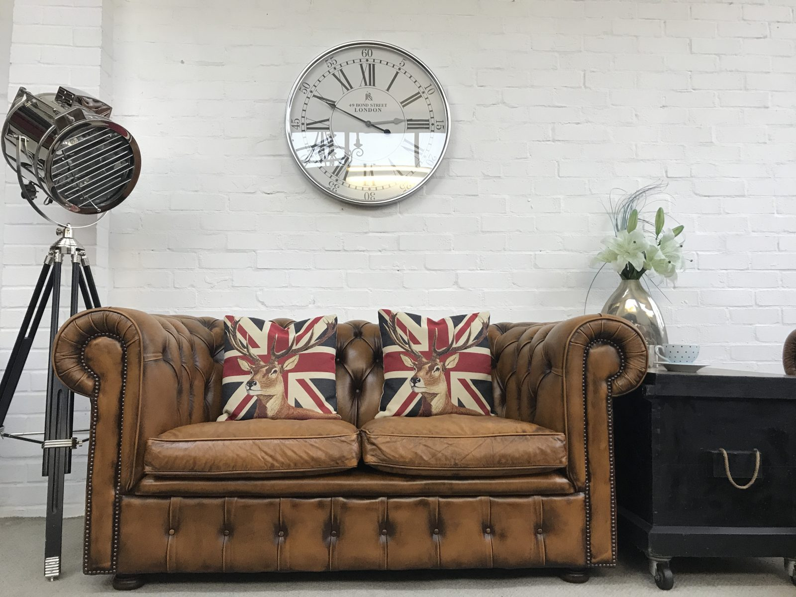 Vintage Golden Tan Chesterfield Sofa…..SOLD.