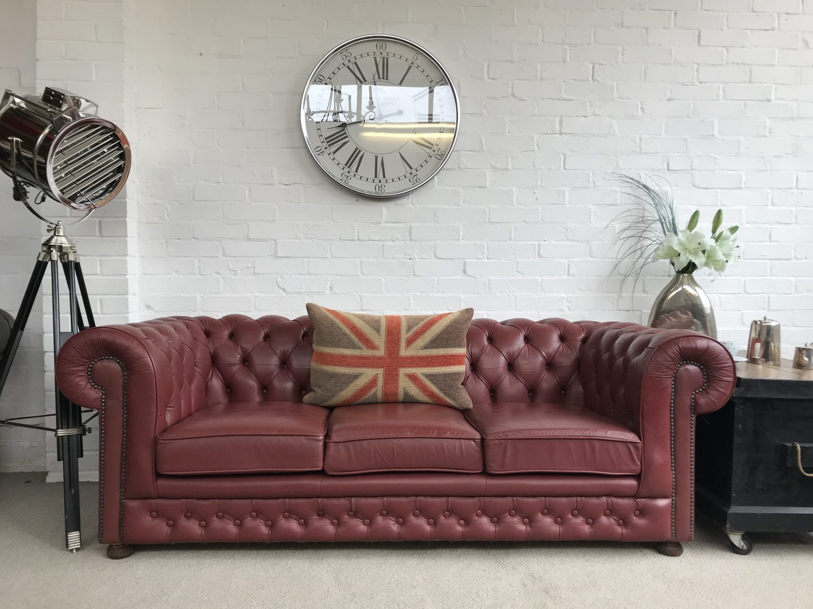 Vintage Chesterfield Sofa.(Matching 2 Seater Available)