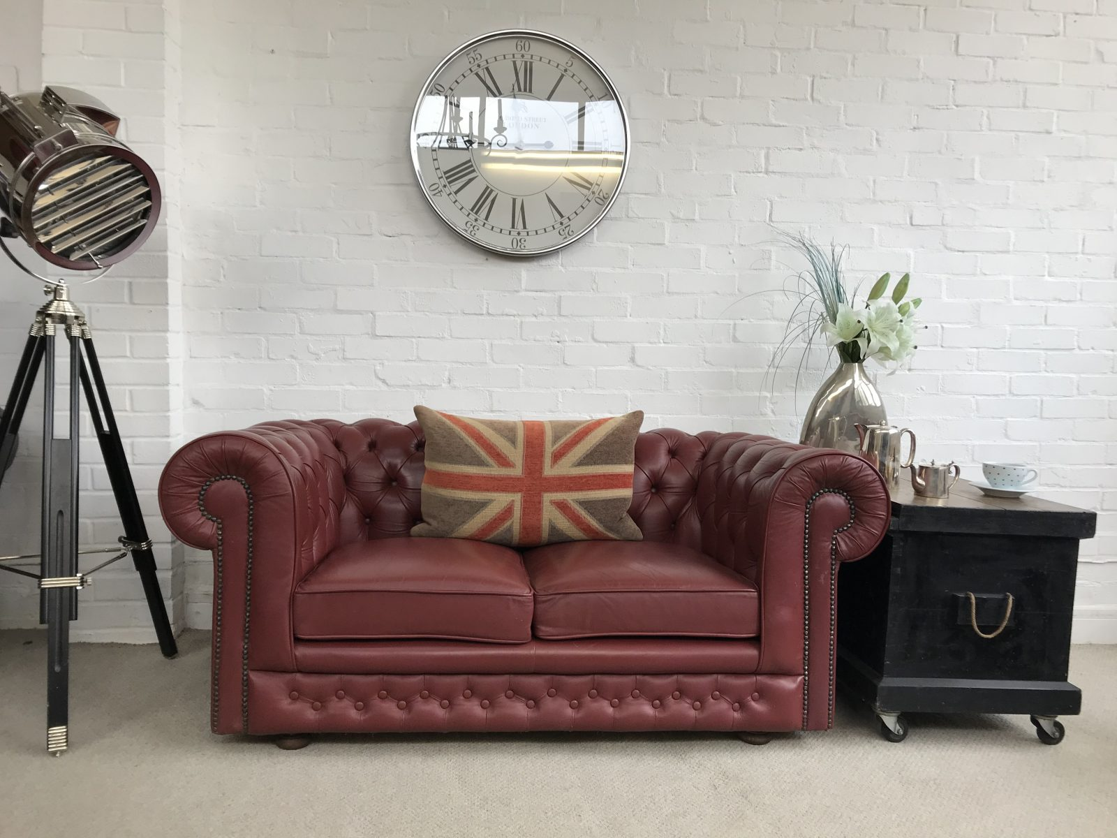 Vintage Chesterfield Sofa.(Matching 3 Seater Available)
