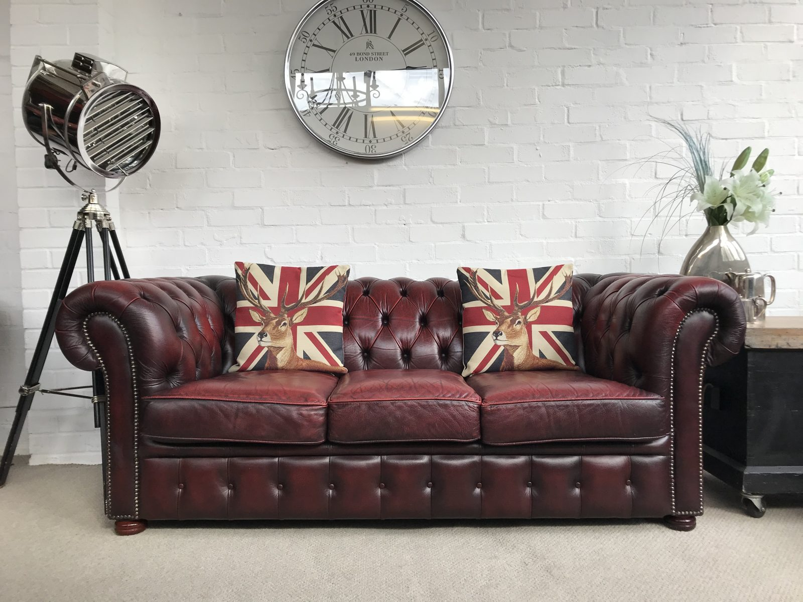 Vintage Oxblood Chesterfield Sofa.