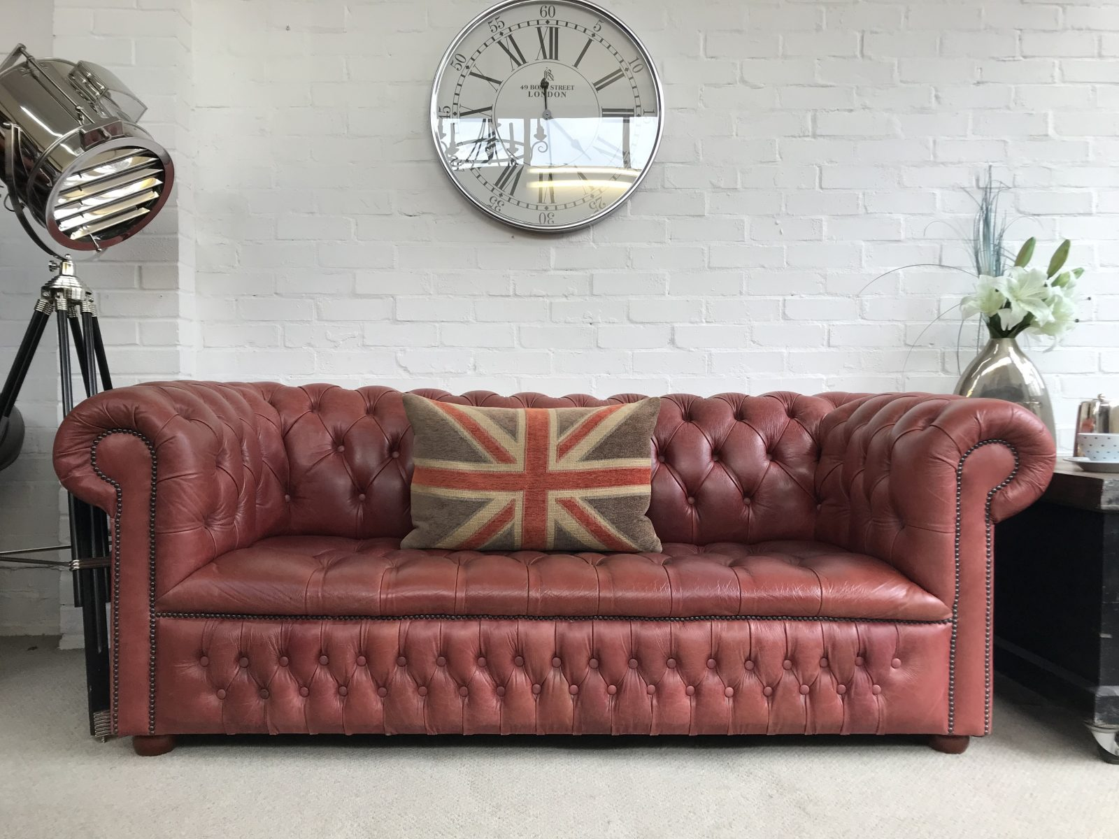 3 Seater Chesterfield Sofa.
