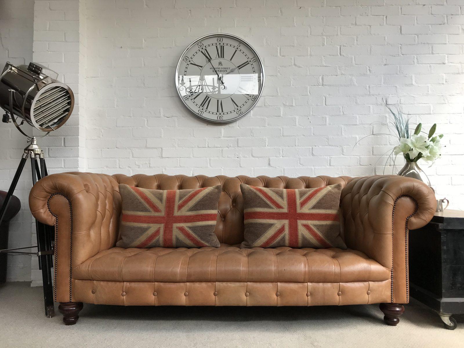 Stunning Saddle Tan Chesterfield Sofa. SOLD…