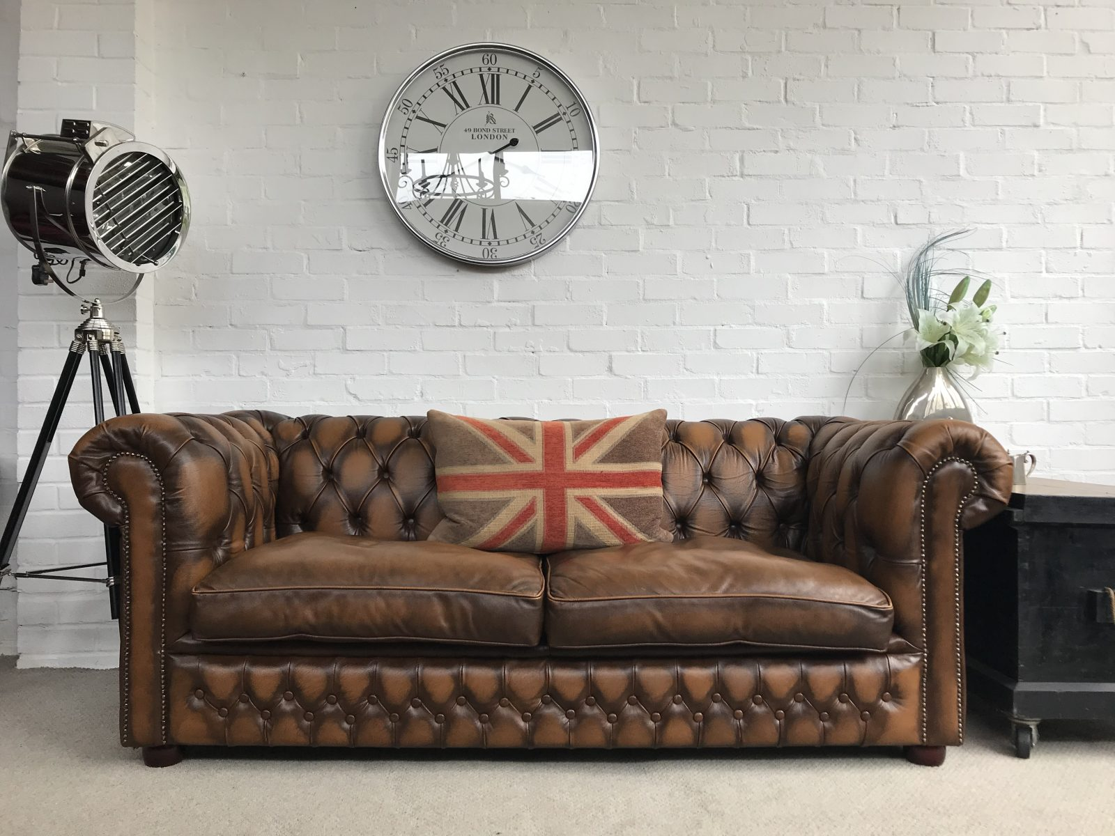 Stunning Golden Brown Chesterfield Sofa…..SOLD.