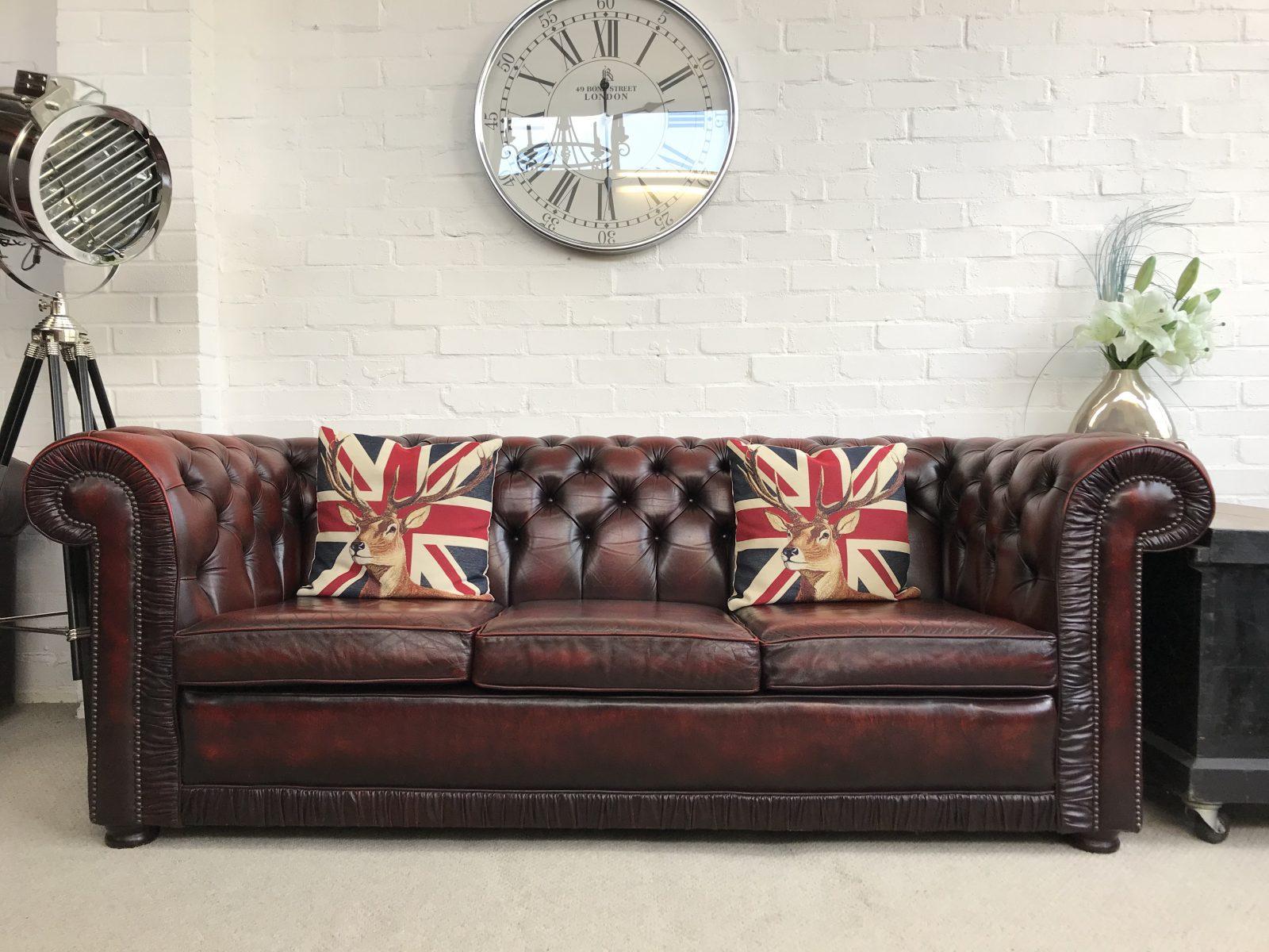 Stunning Vintage Chesterfield Sofa.