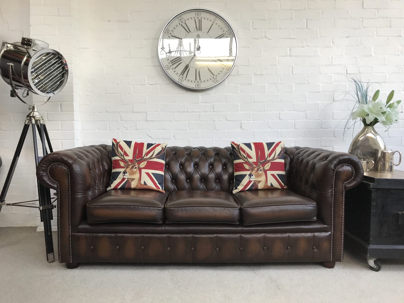 Antique Brown Chesterfield Sofa…..SOLD.