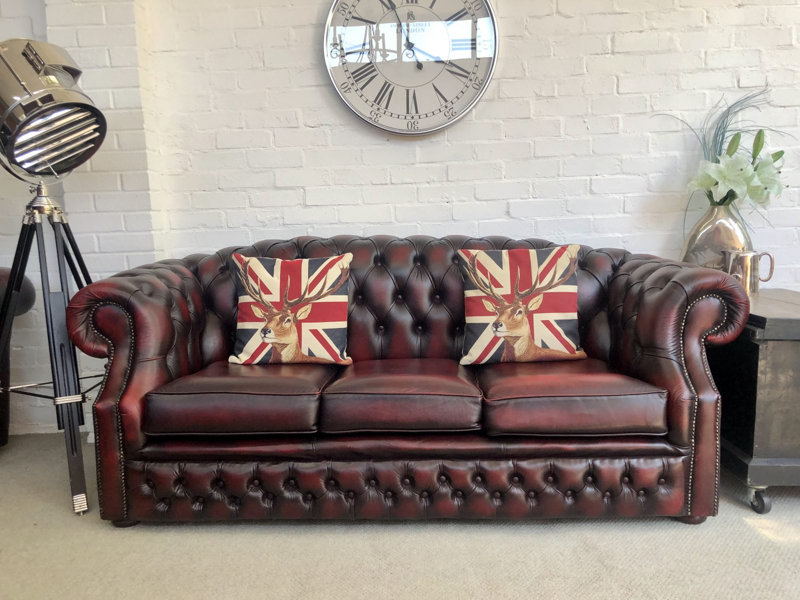 Oxblood Red Chesterfield Sofa.