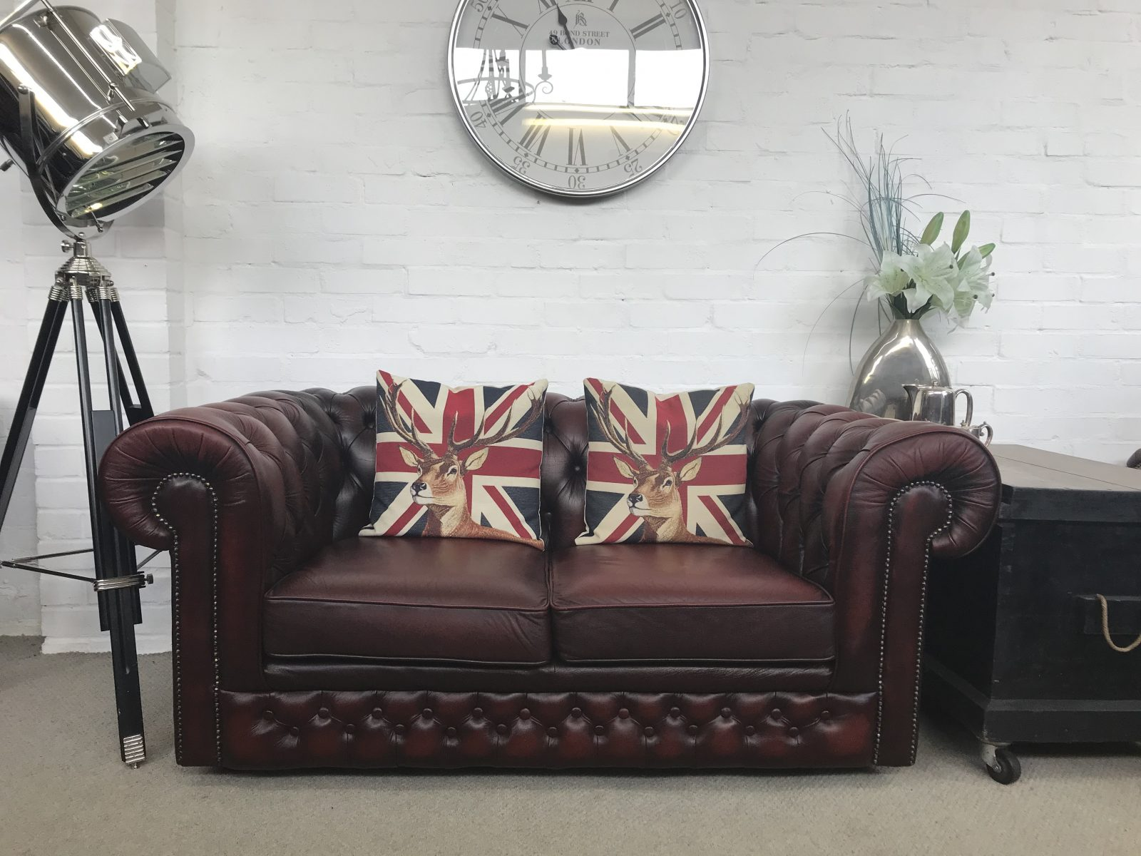 Oxblood Chesterfield Sofa…..SOLD.