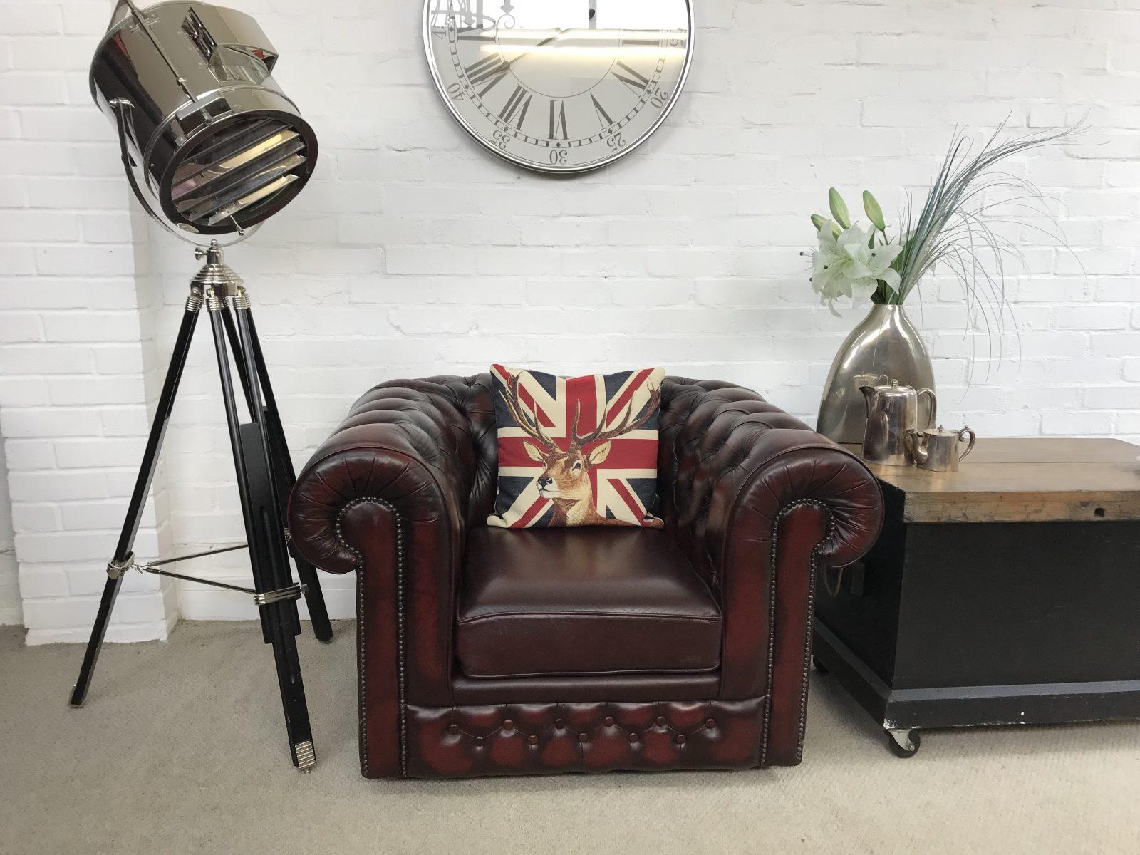 Oxblood Thomas Lloyd Club Armchair…..SOLD.