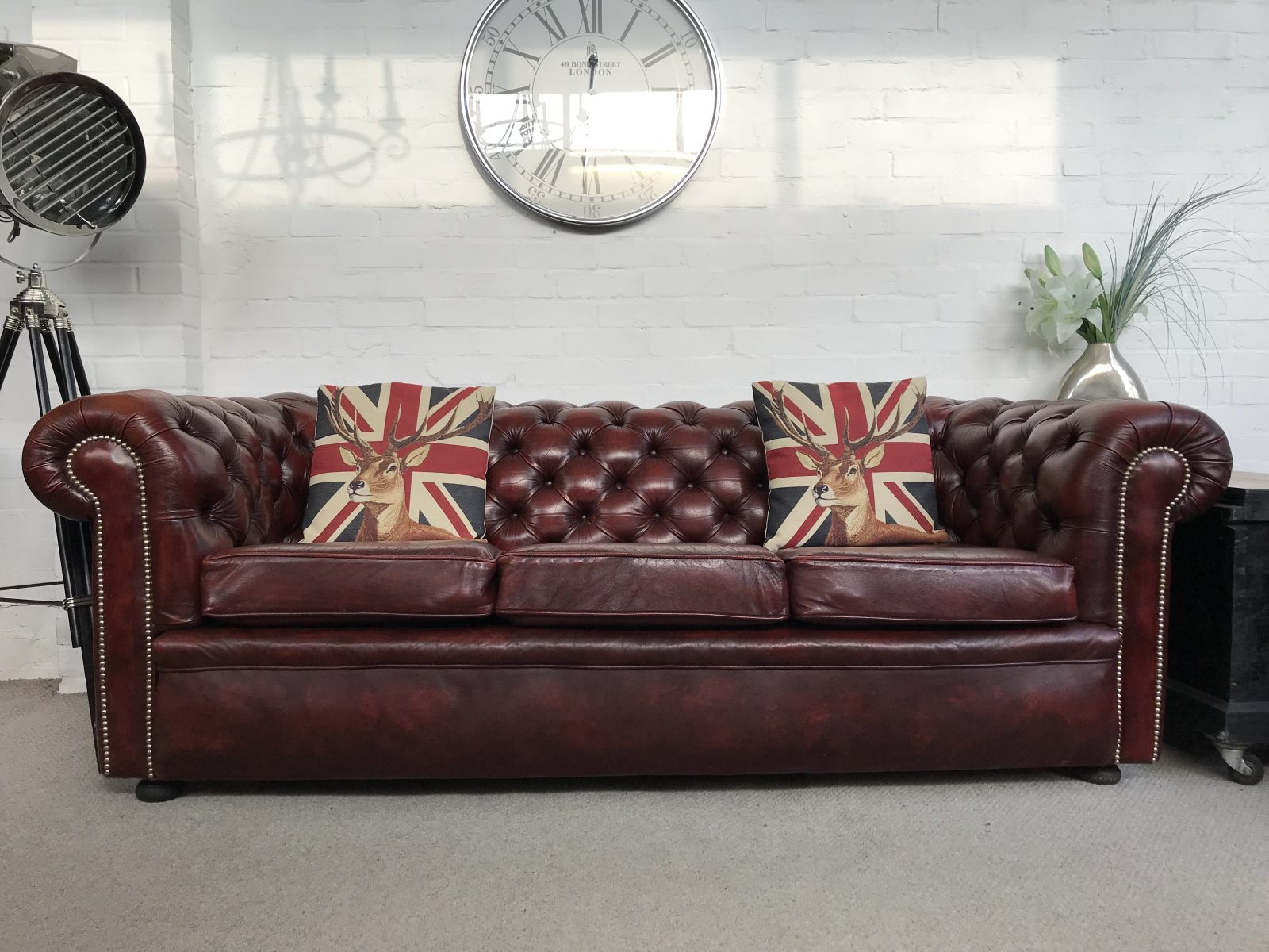 Outstanding Quality Vintage Chesterfield Sofa…..SOLD.